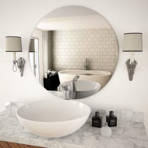 Oglindă de perete, 70 cm, sticlă, rotundă
