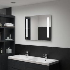 Oglindă de perete de baie cu LED, 80 x 60 cm