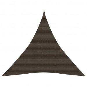 Pânză parasolar, maro, 3,6x3,6x3,6 m, HDPE, 160 g/m²