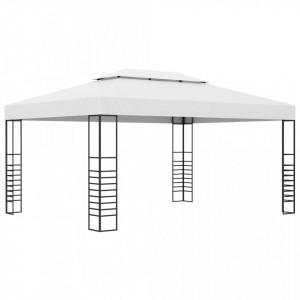 Pavilion de grădină, antracit, 4 x 3 x 2,7 cm, oțel