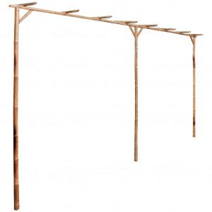 Pergolă din bambus 385 x 40 x 205 cm