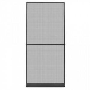 Plasă insecte cu balamale pentru uși, antracit, 100 x 215 cm