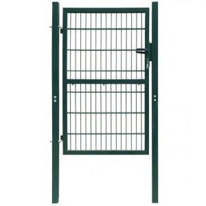 Poartă 2D pentru gard (simplă) 106 x 190 cm, verde