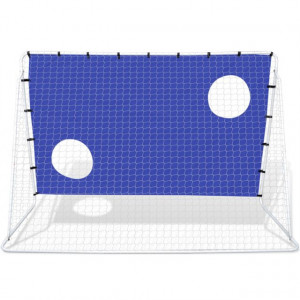 Poartă de fotbal din oțel cu țintă 240 x 92 x 150 cm