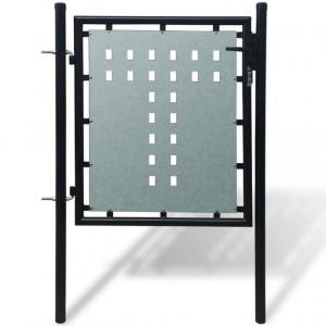 Poartă neagră pentru gard 100 x 150 cm