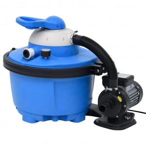 Pompă cu filtru nisip albastru/negru 385x620x432 mm 200 W 25 L