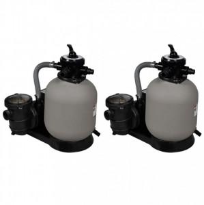 Pompe filtru cu nisip, 2 buc., 600 W, 17000 l/h