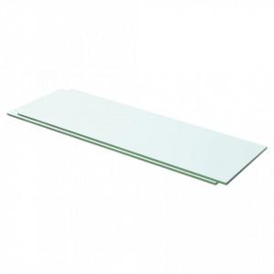 Rafturi, 2 buc., 60 x 15 cm, panouri sticlă transparentă