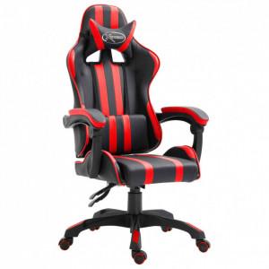 Scaun pentru jocuri, roșu, PU