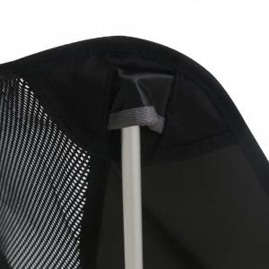 Scaune camping pliabile cu husă, 2 buc., 54x50x65 cm, aluminiu
