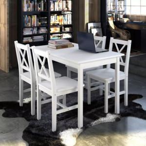 Set mobilier de bucătărie, 5 piese, alb