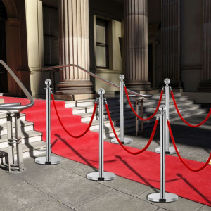 Set VIP stil barieră, 3 piese, argintiu, oțel inoxidabil