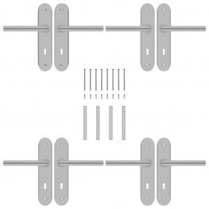 Seturi mânere de ușă cu rozetă BB, 2 buc., oțel inoxidabil