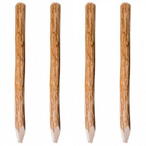 Stâlpi de gard ascuțiți, 4 buc., 120 cm, lemn de alun
