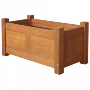 Strat înălțat de grădină, 50x25x25 cm, lemn de acacia