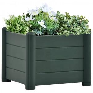 Strat înălțat de grădină, verde, 43x43x35 cm, PP