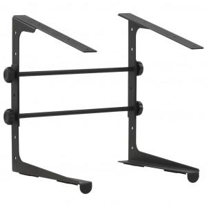 Suport pentru laptop, negru, 30,5x28x(24,5-37,5) cm , oțel