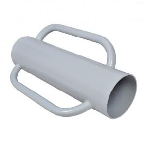 Suport pentru stâlp de gard cu mânere, oțel