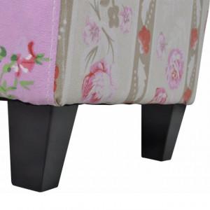 Taburet patchwork cu model floral