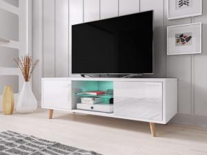 TV STAND SWEDEN WHITE MAT/WHITE HIGH HIGH GLOSS