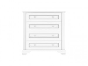 WHITE 008 commode 4S 90 snow ash-tree/silver pine