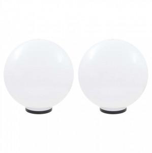 Lămpi glob cu LED, 2 buc., 50 cm, PMMA, sferic