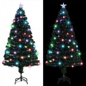 Brad artificial de Crăciun cu suport/LED, 150 cm, 170 ramuri