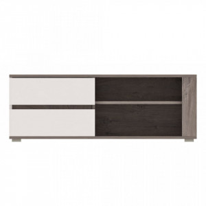 Ares as1 tv stand oak enderein/white high gloss