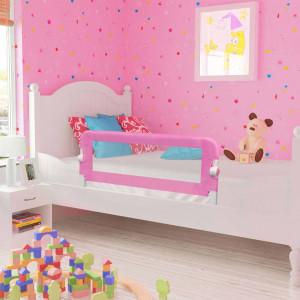 Balustradă de protecție pat copii, roz, 120 x 42 cm, poliester