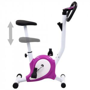 Bicicletă fitness cu centură de rezistență, mov