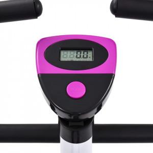 Bicicletă fitness cu curea de rezistență, mov
