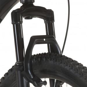 Bicicletă montană cu 21 viteze, roată 27,5 inci, negru, 38 cm