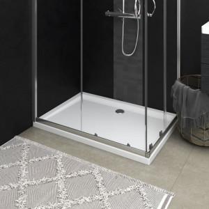 Cădiță de duș dreptunghiulară din ABS, alb, 80x110 cm