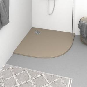 Cădiță de duș, maro, 90x90 cm, SMC