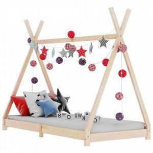 Cadru de pat de copii, 70 x 140 cm, lemn masiv de pin