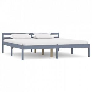 Cadru de pat, gri, 160 x 200 cm, lemn masiv de pin