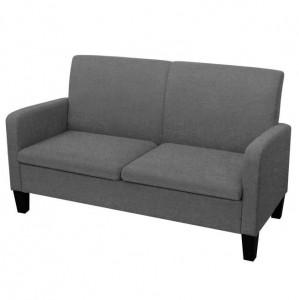 Canapea cu 2 locuri, 135 x 65 x 76 cm, gri închis