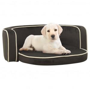Canapea pliabilă de câini gri 73x67x26 cm pernă pluș lavabilă