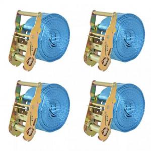 Chingi fixare cu clichet, 4 buc, 2 tone, 6 m x 38 mm, albastru