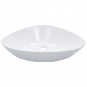 Chiuvetă de baie, alb, 58,5 x 39 x 14 cm, ceramică