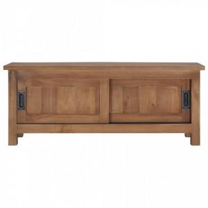 Comodă TV, 90 x 30 x 35 cm, lemn masiv de tec