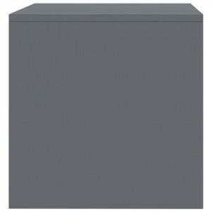 Comodă TV, gri extralucios, 80x40x40 cm, PAL