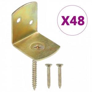Console pentru panou gard, formă L, 48 buc., metal galvanizat