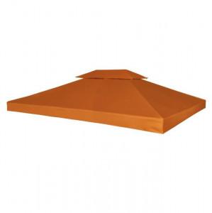 Copertină de rezervă acoperiș foișor, cărămiziu, 3x4m, 310 g/m²