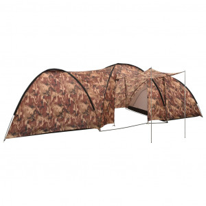Cort camping tip iglu, 8 persoane, camuflaj, 650x240x190 cm