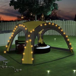 Cort de petrecere cu LED și 4 pereți, verde, 3,6 x 3,6 x 2,3 m