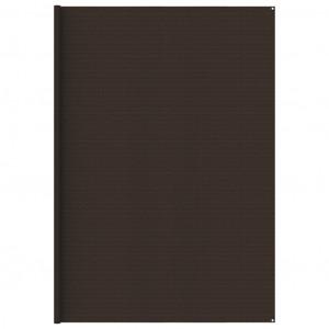 Covor pentru cort, 400x500 cm, maro
