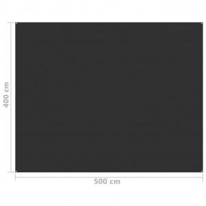 Covor pentru cort, antracit, 400x500 cm