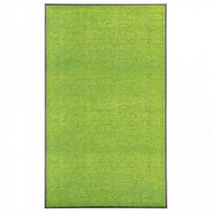 Covoraș de ușă lavabil, verde, 90 x 150 cm