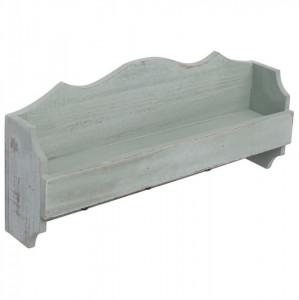 Cuier de perete, verde, 50 x 10 x 23 cm, lemn